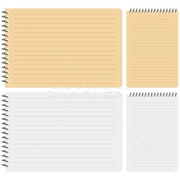 ноутбук белый книга фон шаблон Сток-фото © tshooter