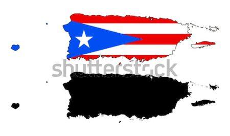 Panama kaart vlag Blauw reizen land Stockfoto © tshooter
