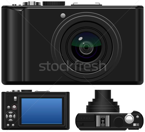 Camera film scherm zwarte foto Stockfoto © tshooter