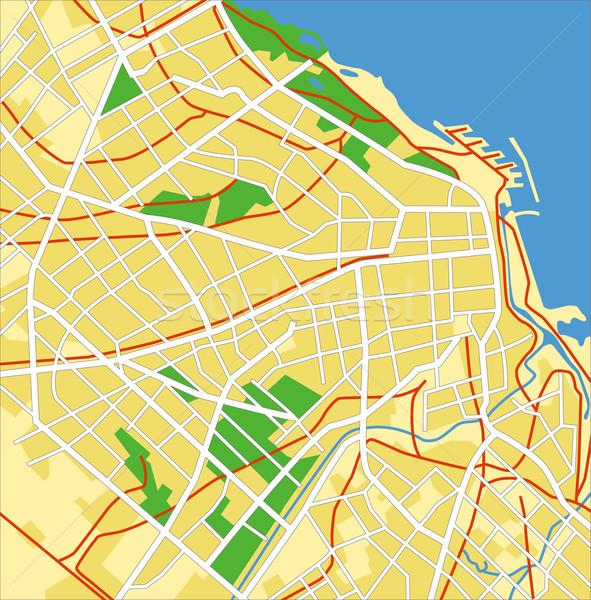 Буэнос-Айрес карта дороги город улице Сток-фото © tshooter