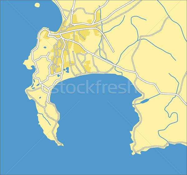 Kaart weg stad straat groene Stockfoto © tshooter
