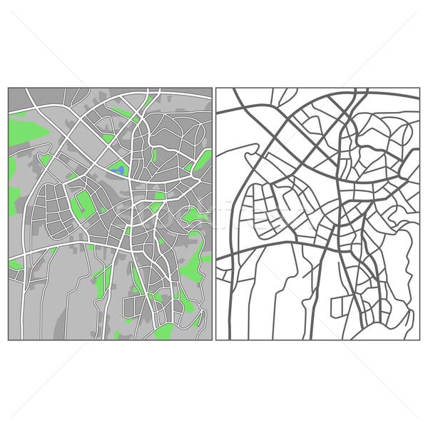 Ancara mapa cidade fundo verde Foto stock © tshooter