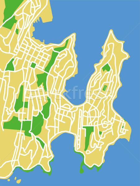 Wellington mapa cidade fundo verde Foto stock © tshooter