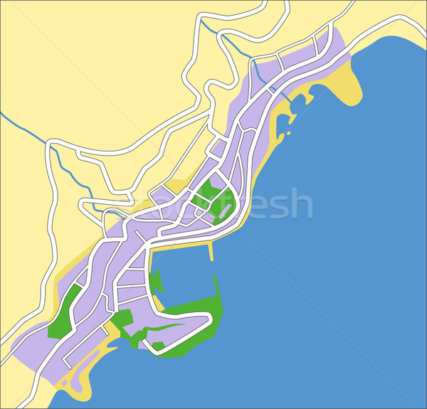 Monaco carte ville fond vert Photo stock © tshooter