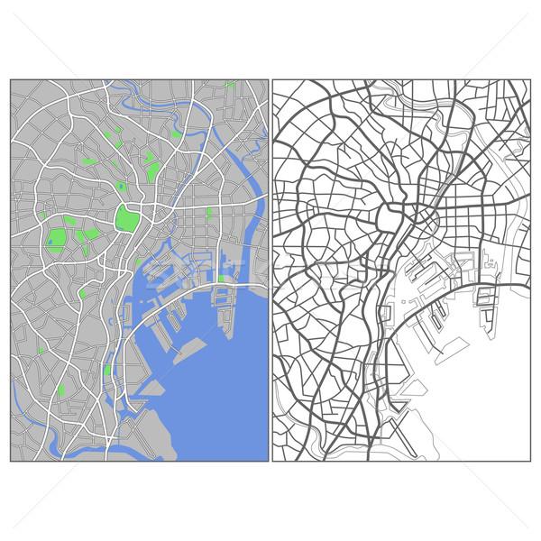 Tokio mapa carretera ciudad fondo Foto stock © tshooter