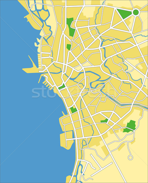Manille carte ville fond vert Photo stock © tshooter