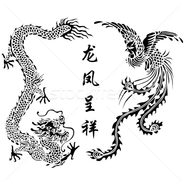 Dragon and Phoenix Stock photo © tshooter