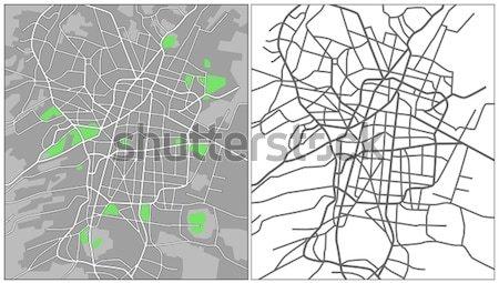 Ottawa harita yol sokak arka plan Stok fotoğraf © tshooter