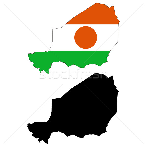 Níger mapa bandera África negro tabla Foto stock © tshooter