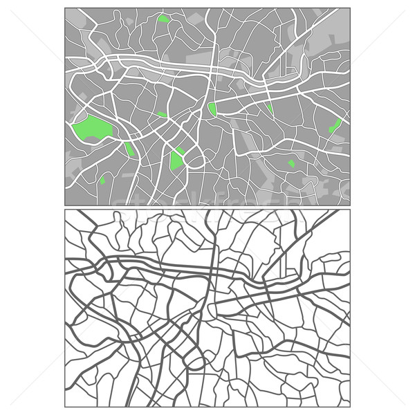 Sao Paulo réteges térkép háttér kék autópálya Stock fotó © tshooter