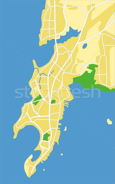Mumbai mapa cidade rodovia urbano Foto stock © tshooter