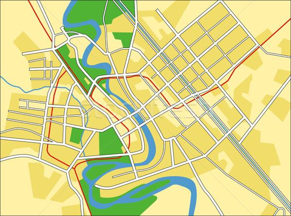 Багдад карта город шоссе городского Сток-фото © tshooter