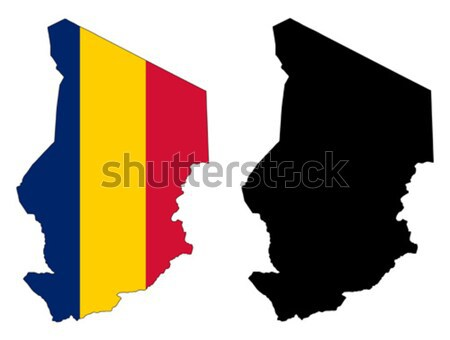 Tsjaad kaart vlag Rood zwarte land Stockfoto © tshooter