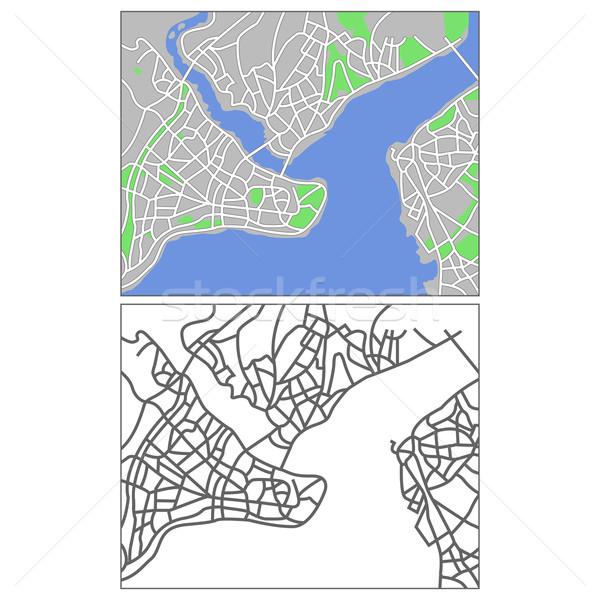 Стамбуле карта город фон шоссе Сток-фото © tshooter