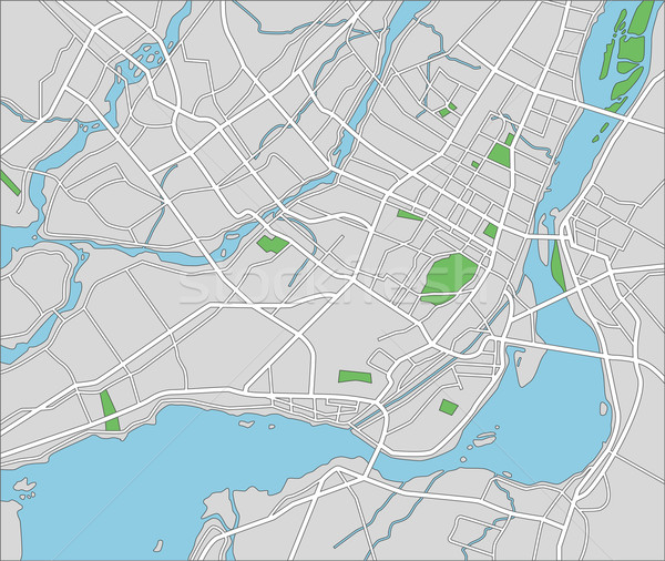 Montreal harita şehir sokak yeşil Stok fotoğraf © tshooter