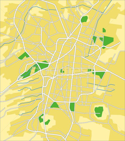 Ciudad de México mapa ciudad calle fondo Foto stock © tshooter