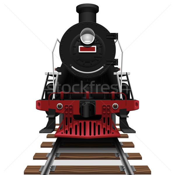 Aislado blanco tren rojo Foto stock © tshooter