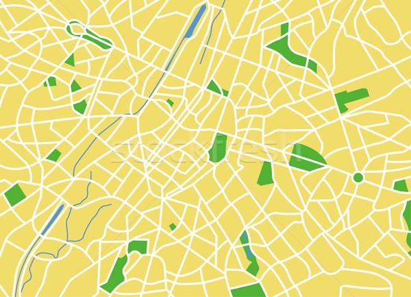 Bruselas mapa ciudad verde azul Foto stock © tshooter