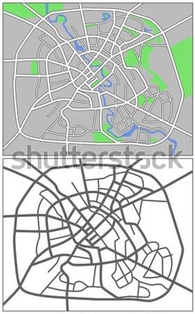 ワシントンDC レイヤード 地図 市 通り 背景 ストックフォト © tshooter