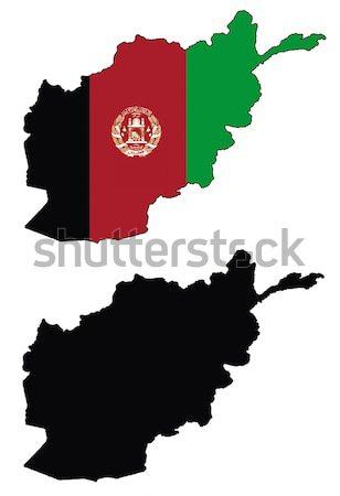 Afganistan harita bayrak dünya arka plan toprak Stok fotoğraf © tshooter