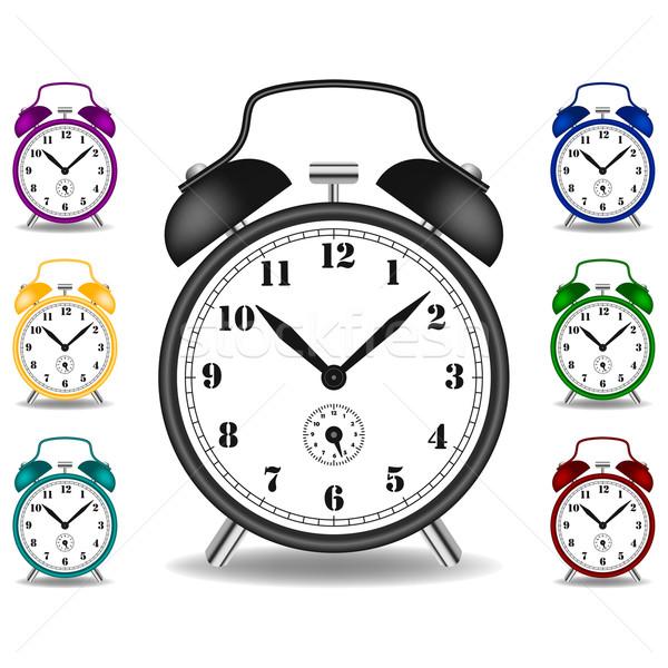 Despertador diferente cor casa assinar Foto stock © tshooter