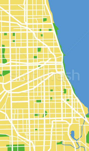 Chicago kaart stad achtergrond groene Stockfoto © tshooter