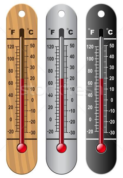 термометра три стекла красный инструментом Сток-фото © tshooter