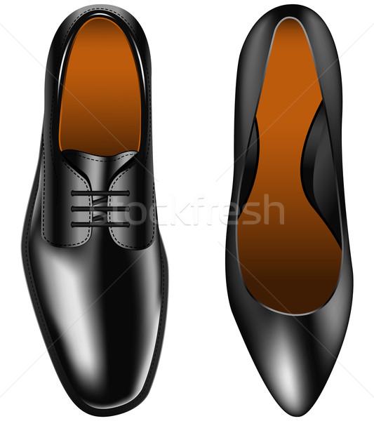 Schoen schoenen vrouwen ontwerp mannen Stockfoto © tshooter