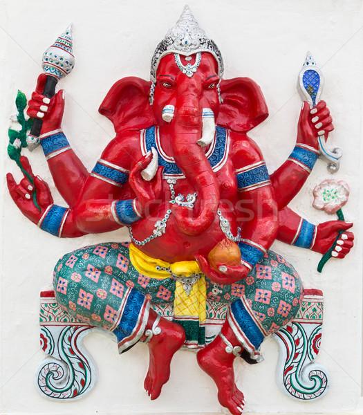 Indian god tempel Thailand ogen Blauw Stockfoto © tungphoto
