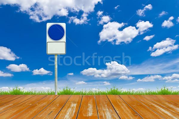 Foto stock: Madeira · maneira · blue · sky · azul · negócio