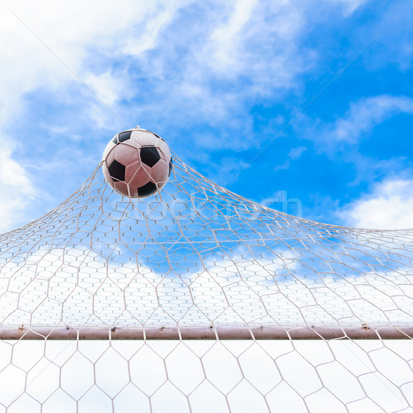 football in goal net Stock photo © tungphoto