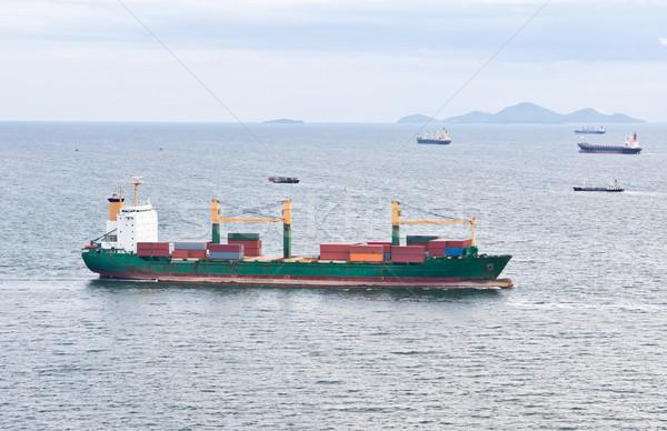 Nave da carico vela mare acqua metal Ocean Foto d'archivio © tungphoto