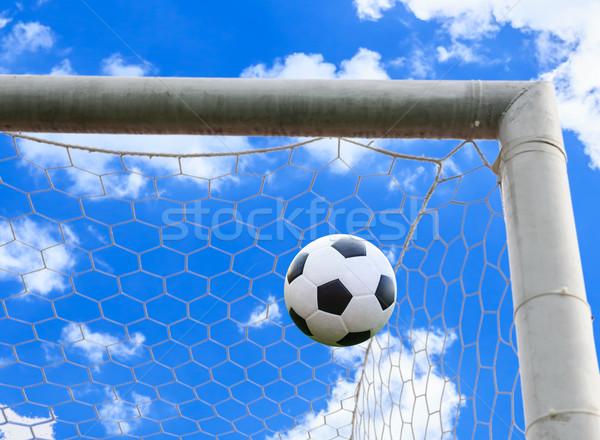 サッカーボール 目標 純 サッカー スポーツ サッカー ストックフォト © tungphoto