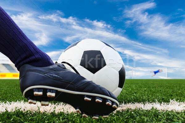 Voet voetbal voetbal sport voetbal Stockfoto © tungphoto