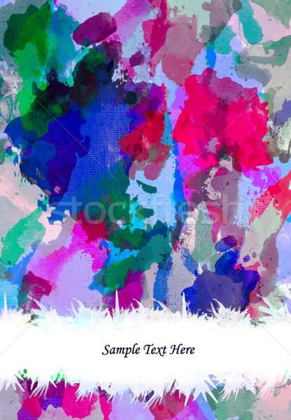 Akwarela malarstwo grunge wody streszczenie projektu Zdjęcia stock © tungphoto
