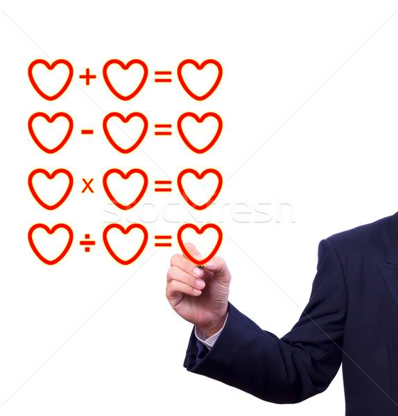 hand writing love mathematical equation  of heart Stock photo © tungphoto