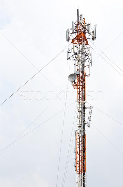 Stock fotó: Mobiltelefon · antenna · égbolt · telefon · televízió · technológia