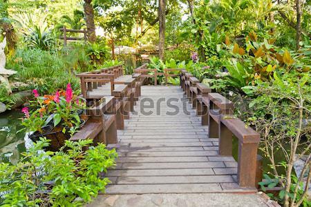 vintage wood path Stock photo © tungphoto