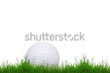golf ball on green grass isolated  Stock photo © tungphoto
