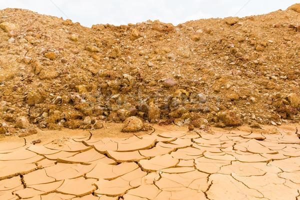 Rachado solo textura abstrato verão Foto stock © tungphoto
