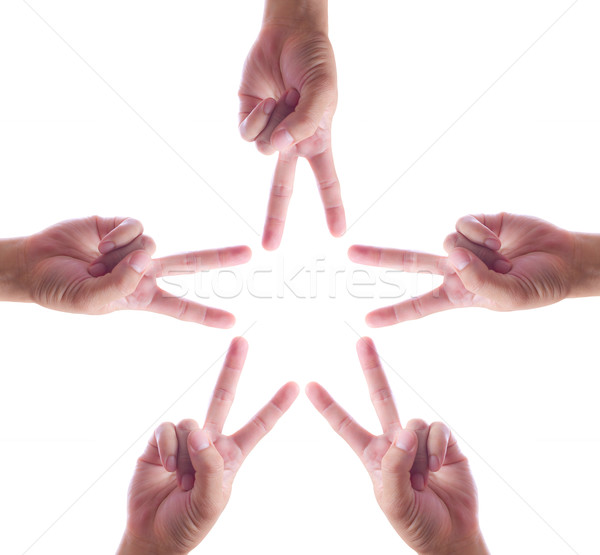 hand make star Stock photo © tungphoto