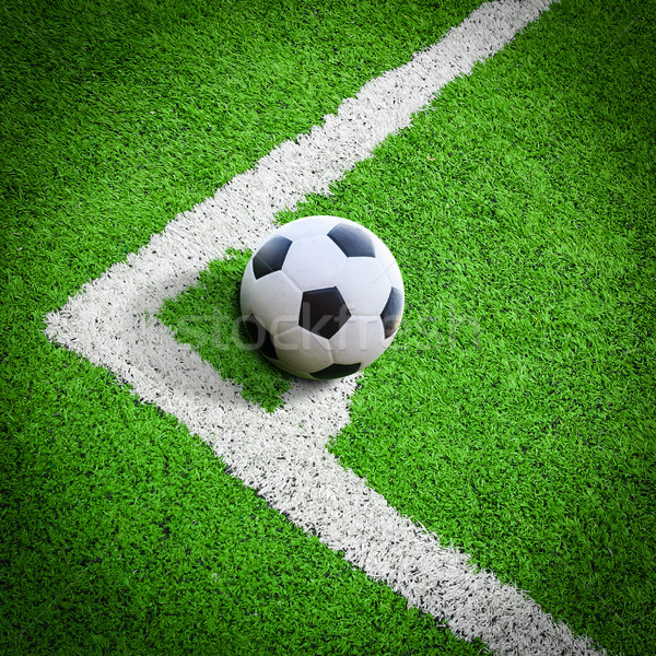 football field conner Stock photo © tungphoto