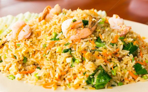 shrimp fired rice thai food Stock photo © tungphoto