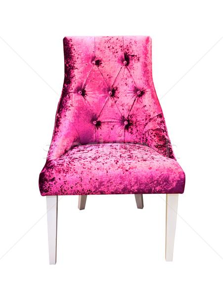 Roze sofa geïsoleerd mode ontwerp Stockfoto © tungphoto