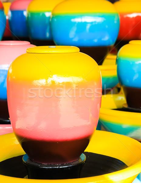 colorful jars Stock photo © tungphoto