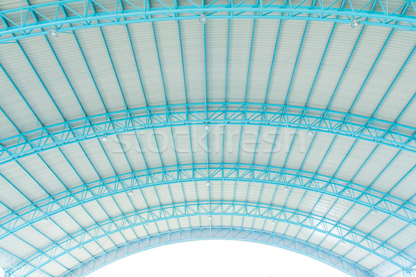 metal roof with steel structure Stock photo © tungphoto