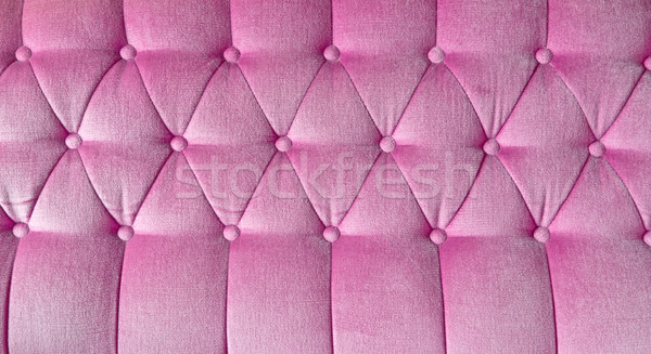 Stock photo: texture of pink fabric sofa for background