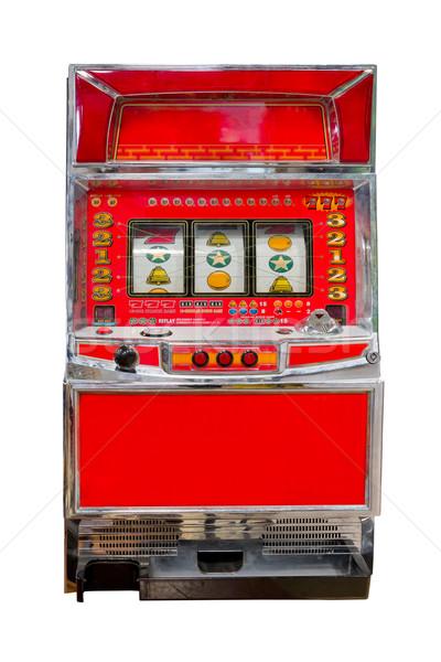 Klasszikus játékautomata izolált pénz retro gép Stock fotó © tungphoto
