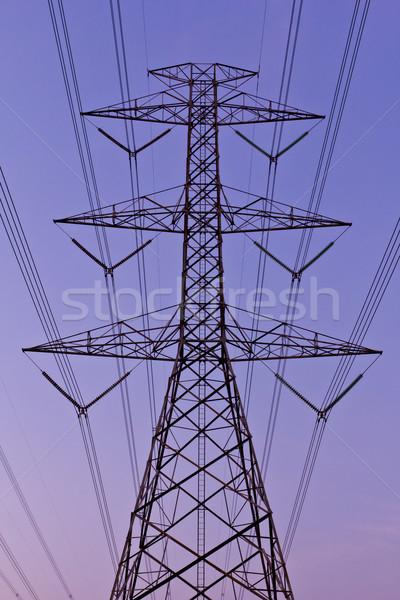 Eléctrica poder cielo tecnología marco Foto stock © tungphoto