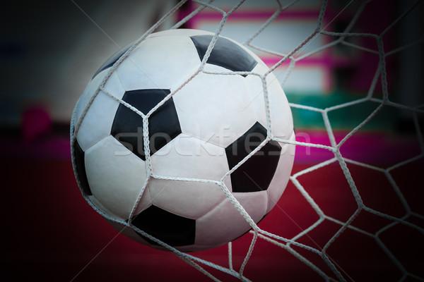 Futballabda gól net futball sport futball Stock fotó © tungphoto
